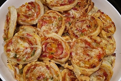 Blätterteig Pizza - Schnecken 12