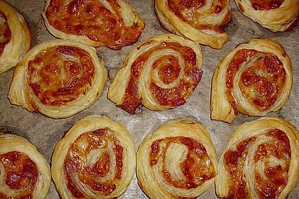Blätterteig Pizza - Schnecken 6