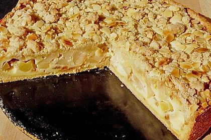 Apfelkuchen mit Puddingcreme und Streuseln 1