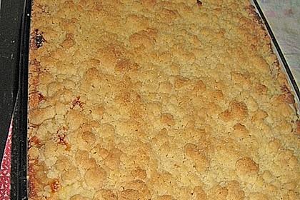 Apfelkuchen mit Puddingcreme und Streuseln