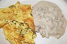 Sauerampfer - Pfannkuchen mit Champignons