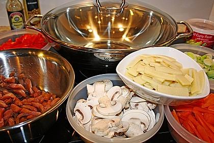 Rotes Curry aus dem Wok 1