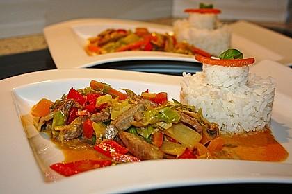 Rotes Curry aus dem Wok