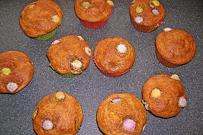 muffins mit smarties rezept mit bild von drazi. Black Bedroom Furniture Sets. Home Design Ideas