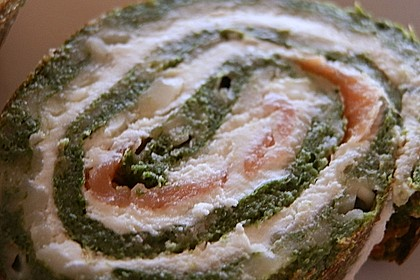 Lachs - Spinat - Roulade 16