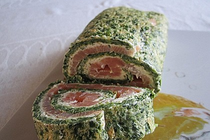 Lachs - Spinat - Roulade 12