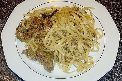 Zucchini - Spaghetti mit Hackfleisch 1