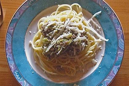 Zucchini - Spaghetti mit Hackfleisch