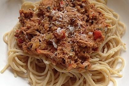 Tomaten - Thunfisch - Soße für Pasta 1