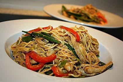Asiatisches Nudel-Curry mit Hühnerbrustfilet 5