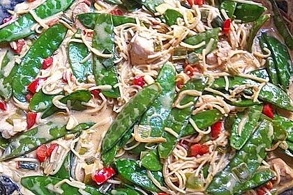 Asiatisches Nudel-Curry mit Hühnerbrustfilet 4