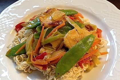 Asiatisches Nudel-Curry mit Hühnerbrustfilet