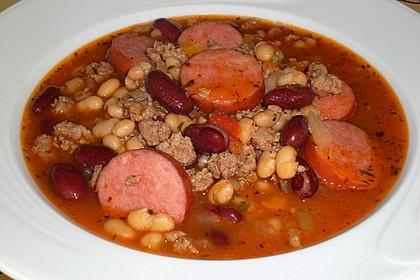 Bohnentopf mit Cabanossi 1