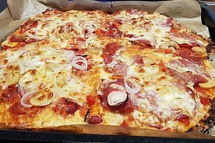 Schneller Pizzateig 1