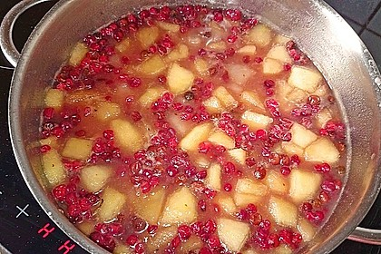 Kompott aus Äpfeln, Birnen und Preiselbeeren 1