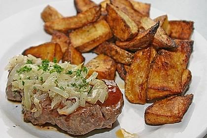 Steaks mit Zwiebeln 4