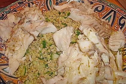 Wolfsbarsch mit Oliven - Mandel - Couscous 1