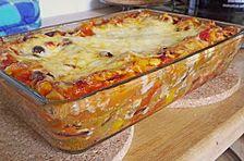 Mexikanische Lasagne - vegetarische Version