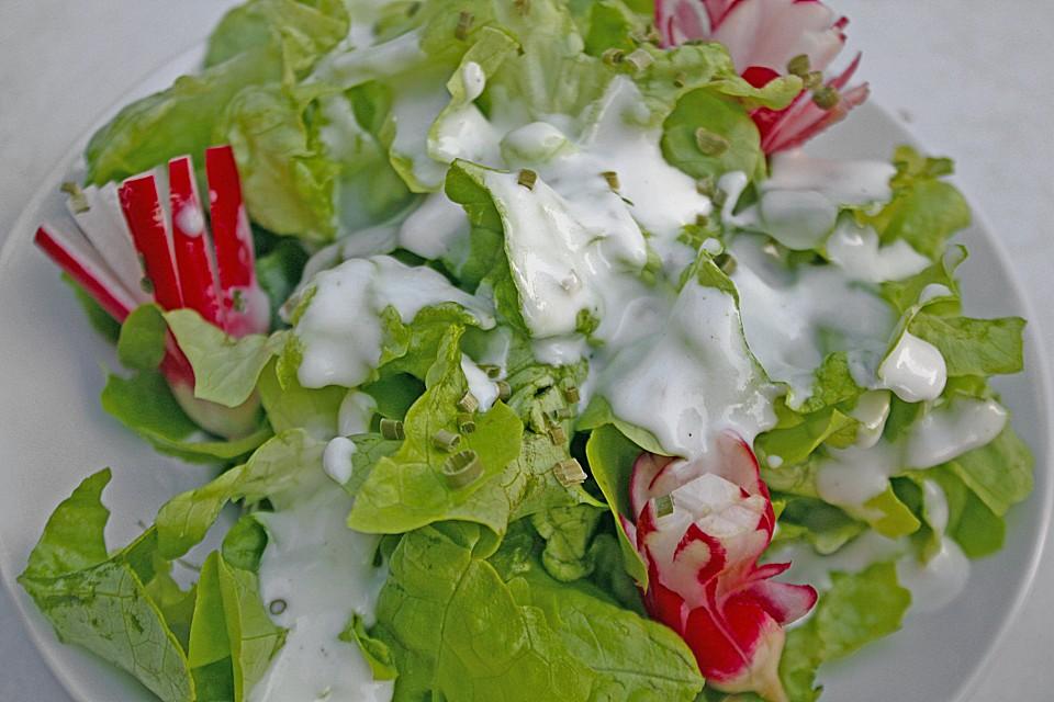 Grüner Salat mit Joghurtsoße von motte1168   Chefkoch.de