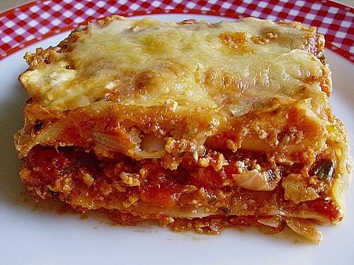 vegetarische lasagne mit tofu rezept mit bild von blumentopfflouw. Black Bedroom Furniture Sets. Home Design Ideas
