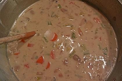 Vegetarische Käse - Gemüse - Suppe