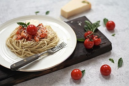 Spaghetti mit kaltem Sugo