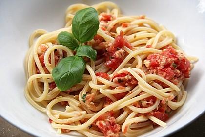 Spaghetti mit kaltem Sugo 1