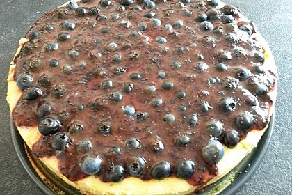 Beerenkuchen mit Vanillecreme