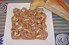 Carpaccio vom Rind, aus gekochtem Fleisch
