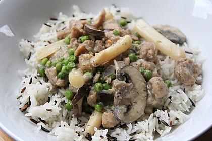 "Veganes ""Hühnerfrikassee"" mit Reis 10"