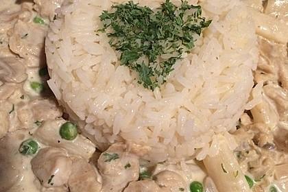 "Veganes ""Hühnerfrikassee"" mit Reis 16"