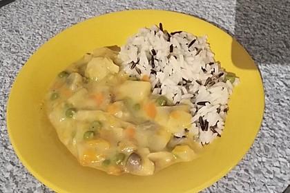 "Veganes ""Hühnerfrikassee"" mit Reis 8"