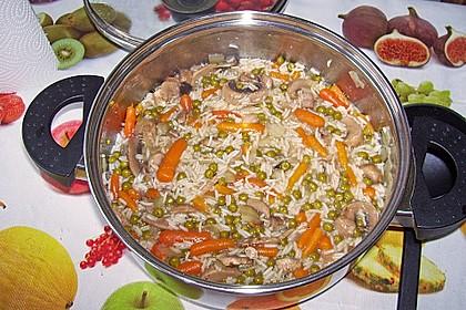"Veganes ""Hühnerfrikassee"" mit Reis 13"