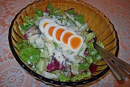 Gemischter grüner Salat mit Walnüssen und Parmesan 13