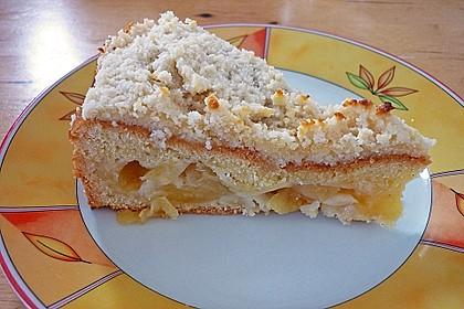 Apfelkuchen mit Mandel - Honig Glasur