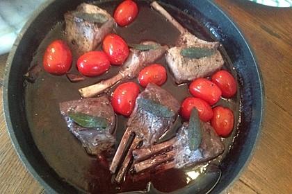 Lammkarree mit Rotwein - Balsamico Reduktion 11