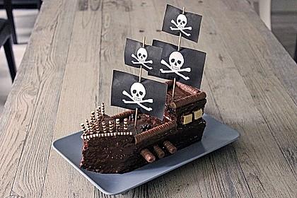 Kuchen piratenschiff anleitung
