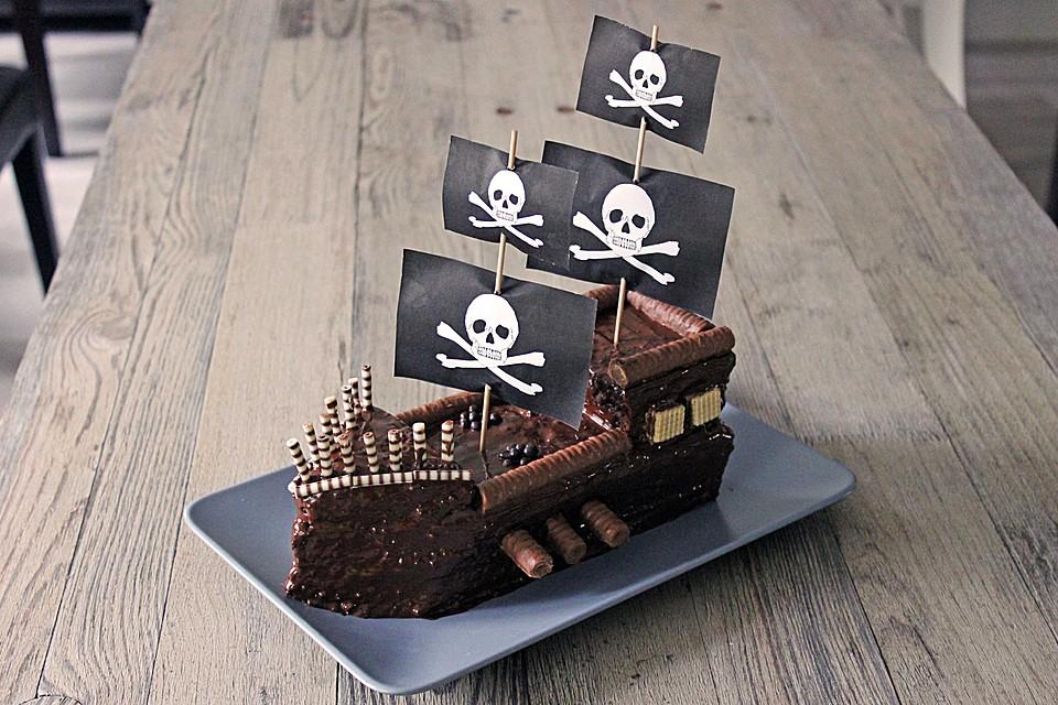 Geburtstagskuchen Kindergeburtstag Piratenschiff Geburtstagskuchen