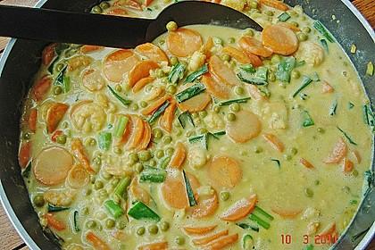 Garnelen - Curry mit Erbsen und Möhren 1