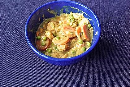 Garnelen - Curry mit Erbsen und Möhren 2