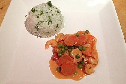Garnelen - Curry mit Erbsen und Möhren 3