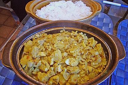 Ananashühnchen in Currysauce 2