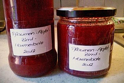 Pflaumen - Apfel - Zimt  Marmelade 4