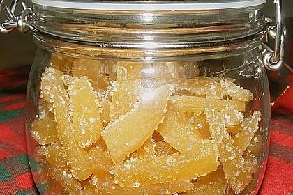 Kandierter Ingwer und Ingwer - Orangensirup 2
