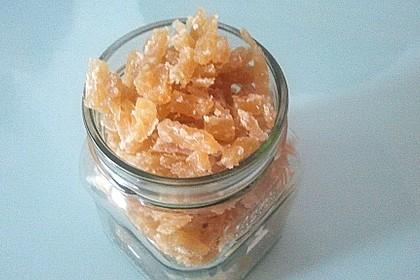 Kandierter Ingwer und Ingwer - Orangensirup 6