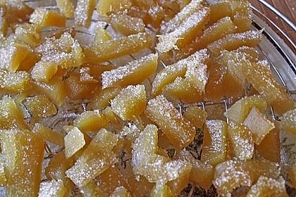 Kandierter Ingwer und Ingwer - Orangensirup 12