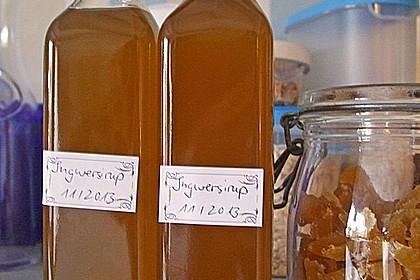 Kandierter Ingwer und Ingwer - Orangensirup 7