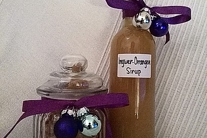 Kandierter Ingwer und Ingwer - Orangensirup 10