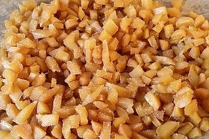 Kandierter Ingwer und Ingwer - Orangensirup 11
