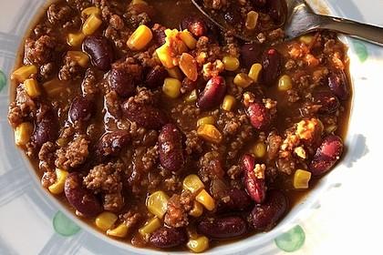 Chili con Carne mit  Zartbitter - Schokolade 4